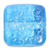 Glass Bead Squares 8mm Two-Tone Sugar Aqua - Strung